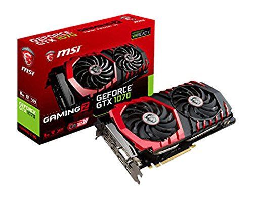 MSI GeForce GTX 1070 Gaming Z 8G - Tarjeta gráfica (refrigeración Twin Frozr Vi, Backplate, LED RGB, 8 GB Memoria GDDR5, VR Ready)