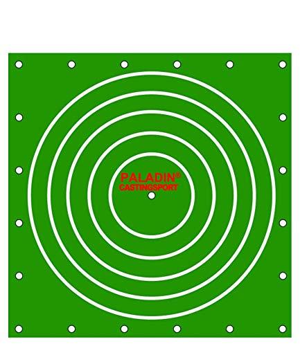 Paladin Unisex– Erwachsene Arenberg Tuch-Zielscheibe für Castingsport, Zielmatte für Casting Sport, Arenbergtuch zum Zielwerfen, Wurfmarkierung, Grün, 340x340