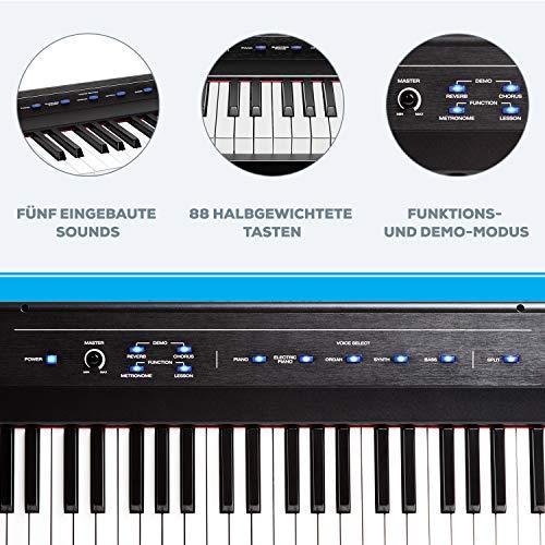 Alesis Recital – Digitalpiano mit 88 Tasten in Standardgröße und eingebauten Lautsprechern - 6