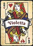 Violetta: Taccuino A5   Nome personalizzato Violetta   Regalo di compleanno per moglie, mamma, sorella, figlia ...   Design: carte da gioco   120 pagine a righe, piccolo formato A5 (14.8 x 21 cm)