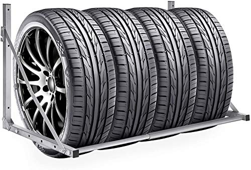 ALTERDJ Wand Reifenhalter Reifenhalter Wandmontage Reifenhalter Set Reifenwandhalter für Auto Felgen Reifen Wandhalterung - einfach anzubringen