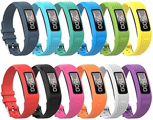 Tyogeephy Correa de Reloj Compatible con Vivofit 1/ Vivofit2, Pulsera de Correa de Reloj de Silicona Colorida de Repuesto Suave para Vivofit 1/ Vivofit 2 Activity Tracker