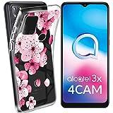 HYMY Cover per Alcatel 3X 2020 (6.52') Morbida Trasparente Silicone Bumper Case TPU Protettivo...
