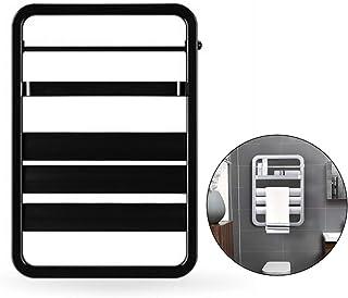 ZTGL Radiador Termostático para Baño, Calentador Eléctrico, Toallero, 380 x 550 mm, 55 W, Aleación de Aluminio,Negro
