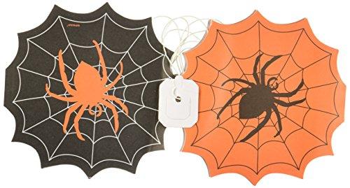 amscan International ltd 227514 Lot de 2 guirlandes de Toile d'araignée Noir/Orange