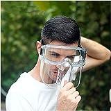 FHUILI Transparente Protector Facial - Anti-extraíble Escupir Careta - Protector de Cara Visera Visera con Clear - Diseño Banda elástica para el Taller de Cocina de Limpieza,A