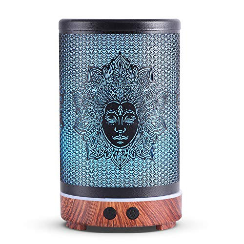 kobodon Essential Oil Diffuser Upgraded Diffusers for Essential Oils Aromatherapy Cool Mist Humidifier with Adjustable Mist Mode Waterless Auto Shut-off Protection 8 Colors Changed LED (Buddha)
