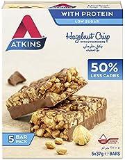 Atkins Chocolate Hazelnut Crisp Bar, 185 gm (5 x 37 gm)