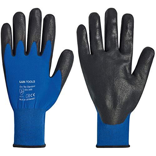 LUX-TOOLS Handschuhe Öko Tex 100 Gr. 10   Wasser- & ölabweisende Arbeitshandschuhe 2703809