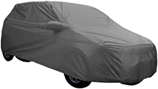 ARNV Car Body Cover for Fortuner, Built Fabric, Comes with Pocket Mirror and Belt (Grey)