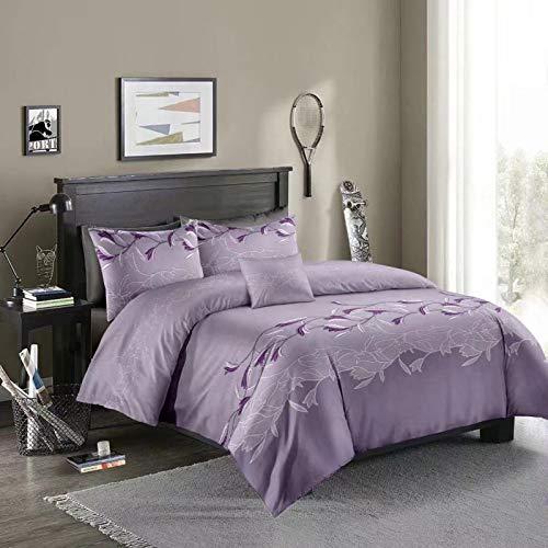 QXbecky Imitation Embroidery molan Bedding Quilt Cover Pillowcase 3 Piece Set 260