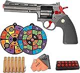 Wuqiqi-yeyi Pistola de Juguete Classic Revolver Soft Bullet, Las Pistolas de Juguete para niños Pueden lanzar una Bala de Esponja EVA contra una Pistola de Juguete, Pistolas de Juguete