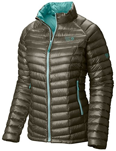 Mountain Hardwear Womens Ghost Whisperer Insulated Down Water Repellant Jacket, Non-Hood -Stone Green - M