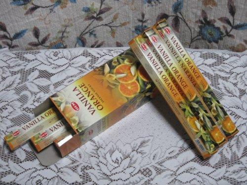 Räucherstäbchen Vanille Orange Marke HEM 6 Packungen
