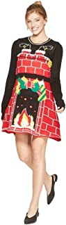 Women's Juniors' Ugly Christmas Cozy Fireplace Dress