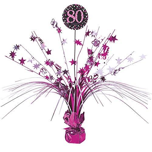 amscan 9901749 Tischdekoration Pink Celebration 80 Jahre