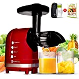 Nutrilovers MINI-PRESS Slow Juicer für Singles, Paare & Kleinere Küchen - Obst & Gemüse Entsafter elektrisch | 100% BPA-Frei |Inkl. Juice Trinkflasche + Rezepte