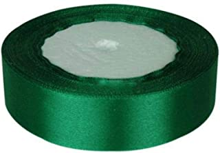 XKSIKjian's Gift Wrapping Supplies, 1Inch Wide Color Satin Ribbon Sewing 25Yards Supply Wedding Festival Birthday Party DIY Gift Wrap Decor - Green