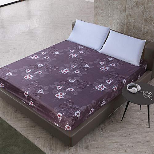 XGguo Matratzenschoner - atmungsaktive,Matratzenschutz ohne Knistern Polyester bedrucktes Bettlaken geschliffen-21_140X200cmX25