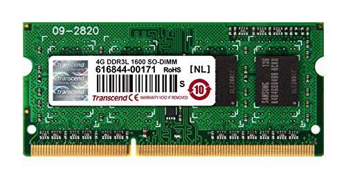 Transcend TS512MSK64W6H Speichermodul 4GB DDR3L 1600 SO-DIMM 1Rx8 512Mx8 CL11 1.35V