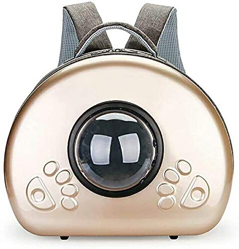 YYhkeby Pet Carrier,Cat dog bag Portable Out pet backpack, Space Capsule Bubble Design,Waterproof Soft-Sided Handbag Backpack for Cat and Small Dogs Jialele (Color : Champagne)