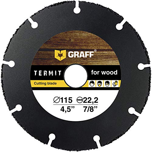Multi Wheel GRAFF® Termit Disco da Taglio per Smerigliatrice Angolare 115mm, Disco Smerigliatrice Legno, Laminato, Plastica (115 mm)