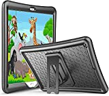 ABOUTTHEFIT Kids Case for iPad 10.2 8th Gen 2020 / 7th Gen 2019, Shockproof Soft Silicone Case, Lightweight Anti-Slip Kids Friendly Protective Cover with Kickstand for 10.2 Inch iPad 8 / iPad 7 -Black