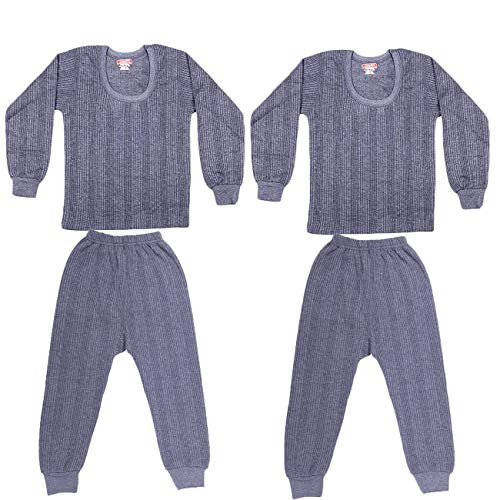 ZIMFIT Inside Wear Kids Thermal/Winter Wear/Warmer for Girls and Boys Round Neck,Full Sleeve, Set of 2 Upper's and 2 Lower's (22)...