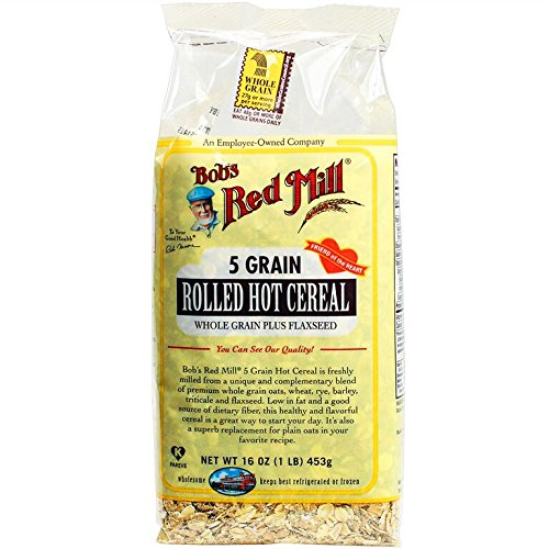 Bob's Red Mill 5 Grain Rolled Hot Cereal 16 Ounces (Pack of 4)