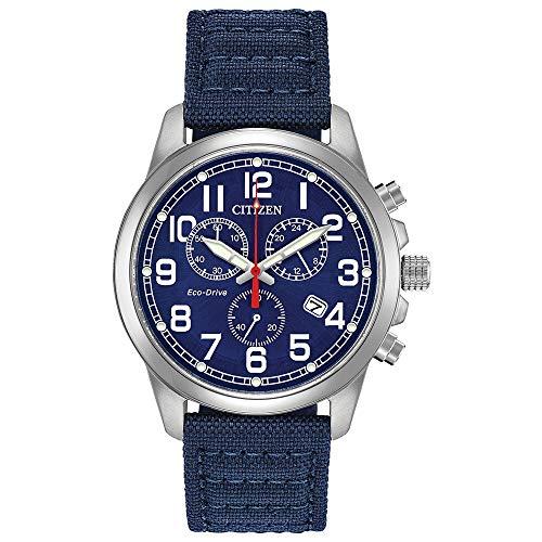 Citizen Military 39 mm acero inoxidable y azul reloj para hombre