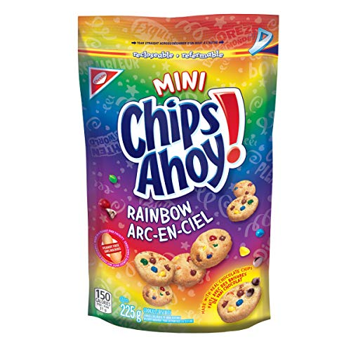 Chips Ahoy! Mini Rainbow Chocolate Chip Cookies, 225g/7.9oz, (Imported from Canada)