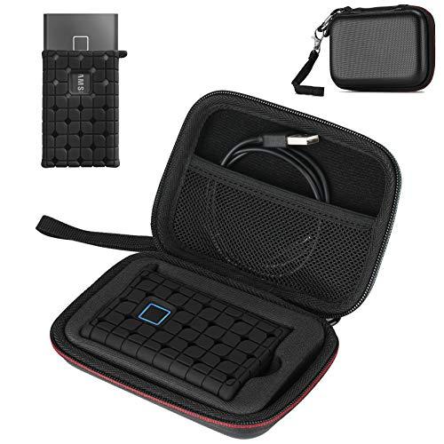 ProCase Tasche mit Silikon Hülle-Set für Tragbar Samsung T7 /T7 Touch External Solid State Drives SSD (500GB 1TB 2TB) Schutzhülle mit Tragetasche, Hartschale Reise Etui Aufbewahrung Organiser –Schwarz