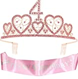 4th Birthday Gifts for Girl, Birthday Crowns for Girl 4,4th Birthday Sash and Crown,4th Sash Birthday Girl, Birthday Gifts for 4 year old Girls,4th Birthday Party Supplies,4th Birthday Crown