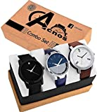 Acnos Stylist Analog Watch Combo Set for Men Pack of - 3 (433-21-24)