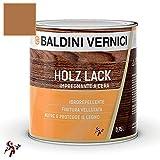 Impregnante per legno esterno interno a Cera Solvente Baldini Vernici 750 ml impregnante a cera per legno 9 colori impregnante baldini impregnante legno esterno interno (TEAK 702)