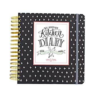 Lily & Val Keepsake Kitchen Diary Cookbook  Traditional Recipe Book to Write in Your Own Recipes 300 Customizable Pages with Included Cooking Tips and Hints