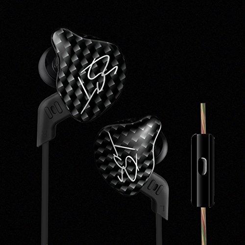 Auriculares ergonómicos KZ ZST Auriculares intrauditivos In-earearphones Montura Dynamic Hybrid Dual Drive Auriculares con cancelación de ruido HIFI Auriculares deportivos con tapón(con micrófono)