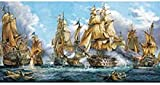 YYTTLL Rompecabezas De Batalla Naval Rompecabezas De Madera Clásicos 1000 Piezas, Iq Challenge Memory Puzzle Jigsaw Adultos Ni?os Juguete Educativo 50X75Cm