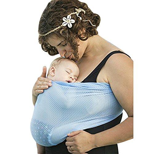 ZZHK Atmungsaktive Baby Slings Quick Dry Babytragen Weiches Material Wasser Tragetuch Neugeborenen Rucksack Känguru,Black