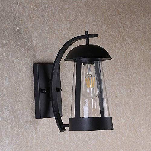 ZSMLB Lámparas de Pared para Exteriores Lámpara Colgante de Pared de Granero al Aire Libre Retro Europea Lámpara de Pared en Forma de Hongo Negra Encantadora IP65 Impermeable para la Cubierta de l