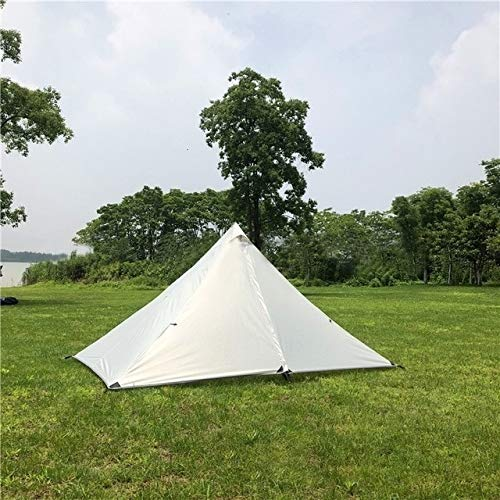 Mdsfe Single Person Ultralight Rodless Pyramid Tent Outdoor Camping Teepee Waterproof 4 Season Camping Hiking Hunting Backpacking Tent-Outer Tent Only,A1