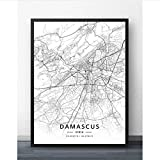 YF'PrintArt Leinwandbild,Leinwandbilder, Damaskus