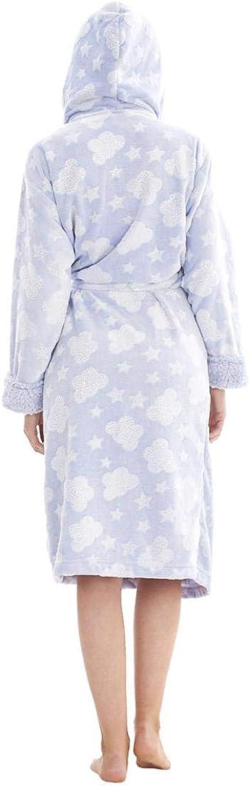 in pile donna ChicWhisper Vestaglia invernale con cappuccio
