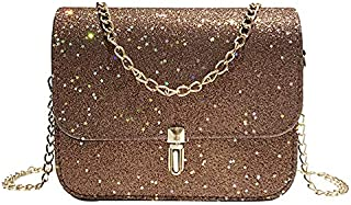 Docooler New Fashion Women Sequined Crossbody Bag PU Leather Chain Mini Messenger Shoulder Bag Glitter Handbag