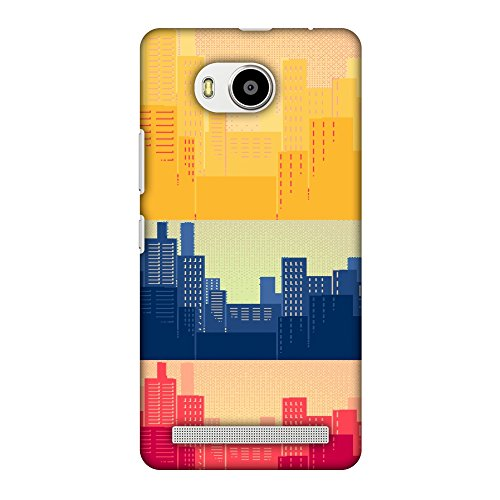AMZER Slim Fit Handcrafted Designer Printed Snap On Hard Shell Case Back Cover for Lenovo A7700 - Colombia Flag- Cityscape HD Color, Ultra Light Back Case