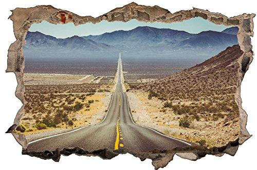 Highway Road Straße USA Route 66 Wandtattoo Wandsticker Wandaufkleber D0646 Größe 40 cm x 60 cm