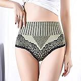 Baumwolle Taillenslip,Warme Palastunterwäsche für Frauen, Bauch mit hoher Taille, Hüften...