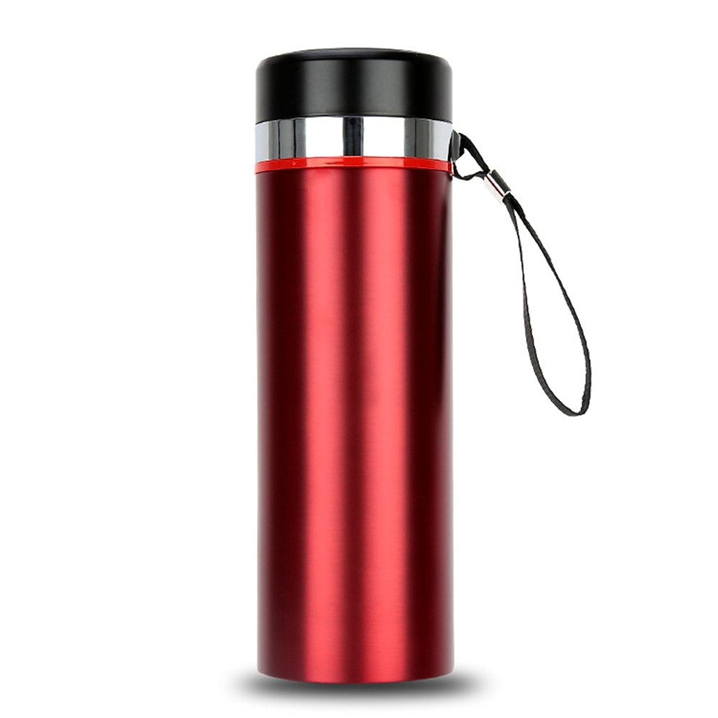 湿地勝者放つOkiiting ステンレス鋼大容量800ミリリットルスポーツボトル断熱カップ人間工学に基づいたデザインポータブルウォーターカップ高温品質保証 うまく設計された (Capacity : 800ml, 色 : 赤)
