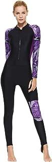 Women's Full Body Swimsuit Rash Guard One Piece Long Sleeve Long Leg Swimwear with UV Sun Protection