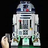 Conjunto De Luces para (Star Wars R2-D2) Modelo De Construcción De Bloques - Kit De Luz LED Compatible con Lego 75308(NO Incluido En El Modelo),Remote Control